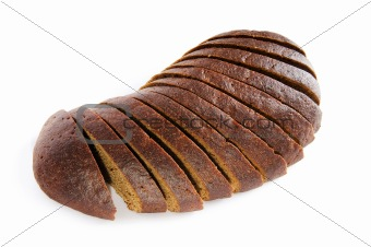 Sliced bread isolated on the white background