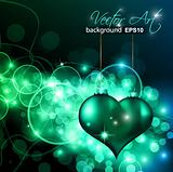 Abstract Colorful Background For Valentine's day Flyer