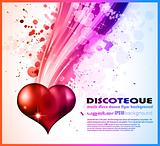 Abstract DISCO Background For Valentine's day Flyer