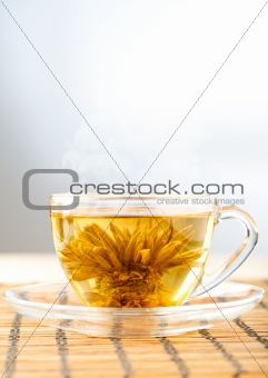 bright picture of green tea