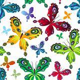 Repeating vivid pattern