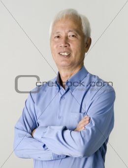 portrait of senior asian businss man