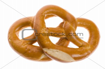 Pretzels isolated on white