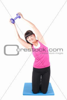 Fitness instructor  isolated on white