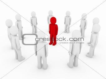 3d human circle red