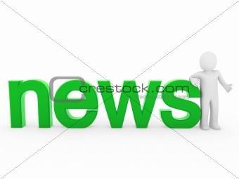 3d human news read green