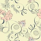 Vintage seamless wallpaper