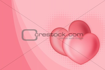 Abstract background of c by two hearts