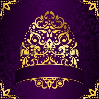 Image 3395257 Elegant Square Easter Frame In Purple And Gold From