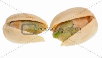 Pistachios in close-up