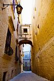 Narrow street of Mdina, Malta