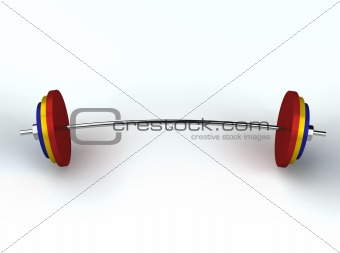 3D render of weightlifting weights
