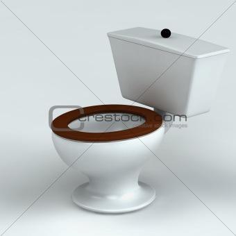 Beautiful toilet isolated on white
