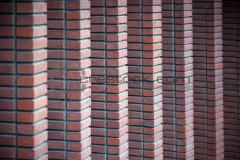 Brick wall columns