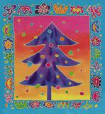 batik christmas tree