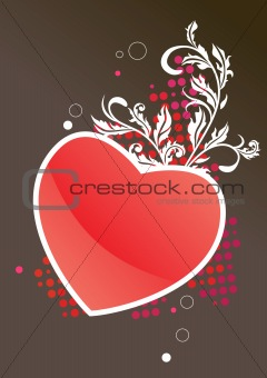Frame with red heart