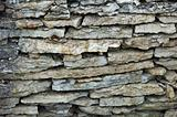 Wall from limestone
