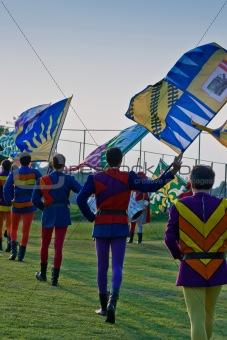 Flag throwers