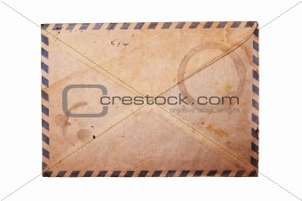 Vintage envelope isolated.