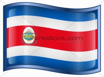 Costa Rica flag icon.
