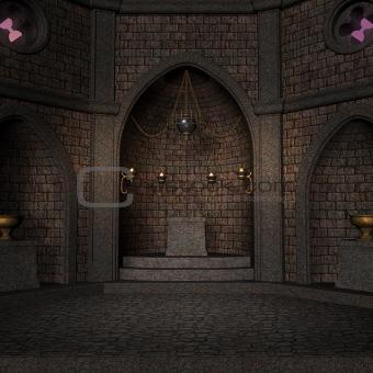 archaic altar in a fantasy setting