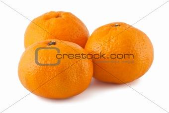 Three ripe targerines