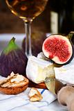 Cheese, figs and white wine