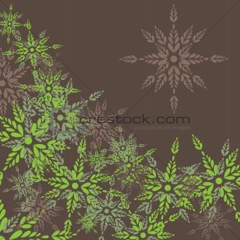 Green leaves.  Vector illustration