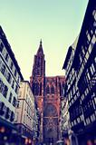 Strasbourg cathedral - vintage image