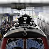 Diesel train in station