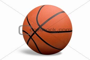 Basketball with shadow