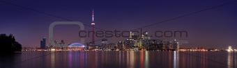 Toronto skyline at dusk (8:30 at night)