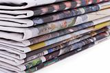 Newspaper pile