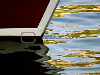 Boat detail with ripples