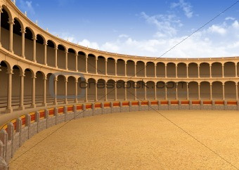 Ancient coliseum arena