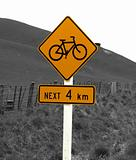 Rural Bicycle Sign