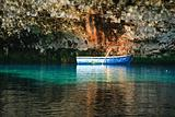 Rowing boat Melissani Cave