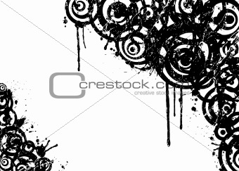 Abstract grunge circle, vector