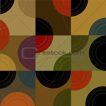 Retro Circles n Cubes (Vector)