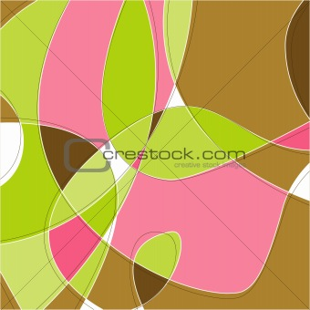 Retro Swirl Background (Vector)