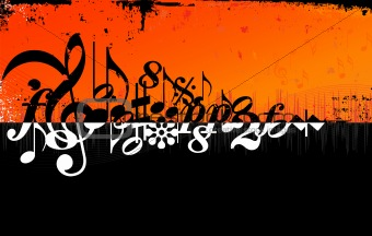 Grunge Music Background (vector)