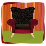 Leopard Velvet Armchair (Vector)