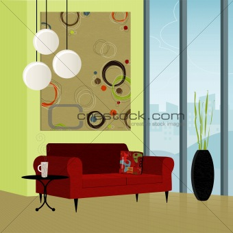 Retro-Modern Home (Vector)