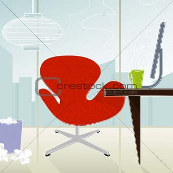 Retro-Modern Office (vector)