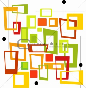 Retro Colorful Squares (Vector)