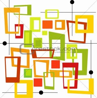 Retro Colorful Squares (Vector)