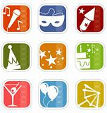 Retro Mod Party Mix Icons