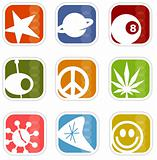 Retro Mod Icons  (vector)