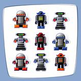 Pixel Art Robot Icons