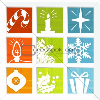 Retro Christmas Icons